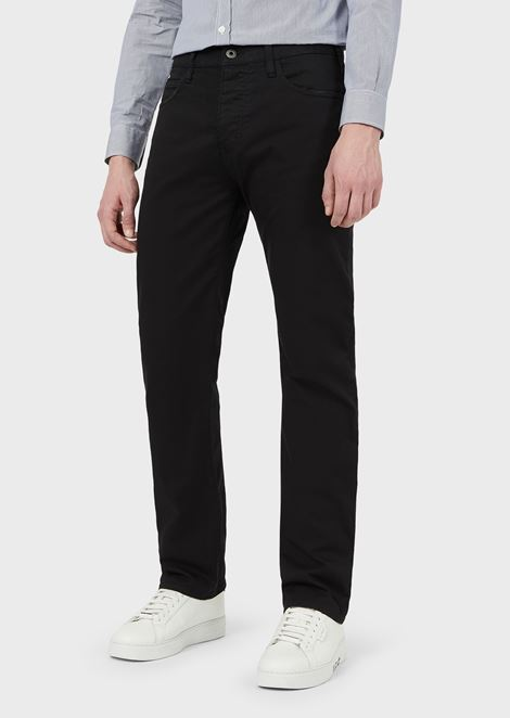Regular-fit J21 jeans in stretch cotton gabardine