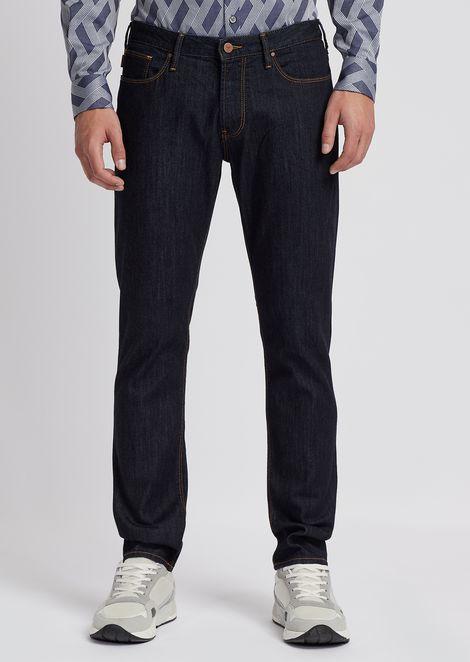 Slim-fit J06 jeans in 10oz medium washed comfort denim