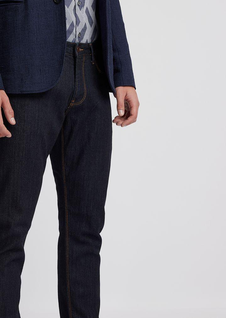 45ecf69489 J06 slim fit 10oz medium washed comfort denim jeans