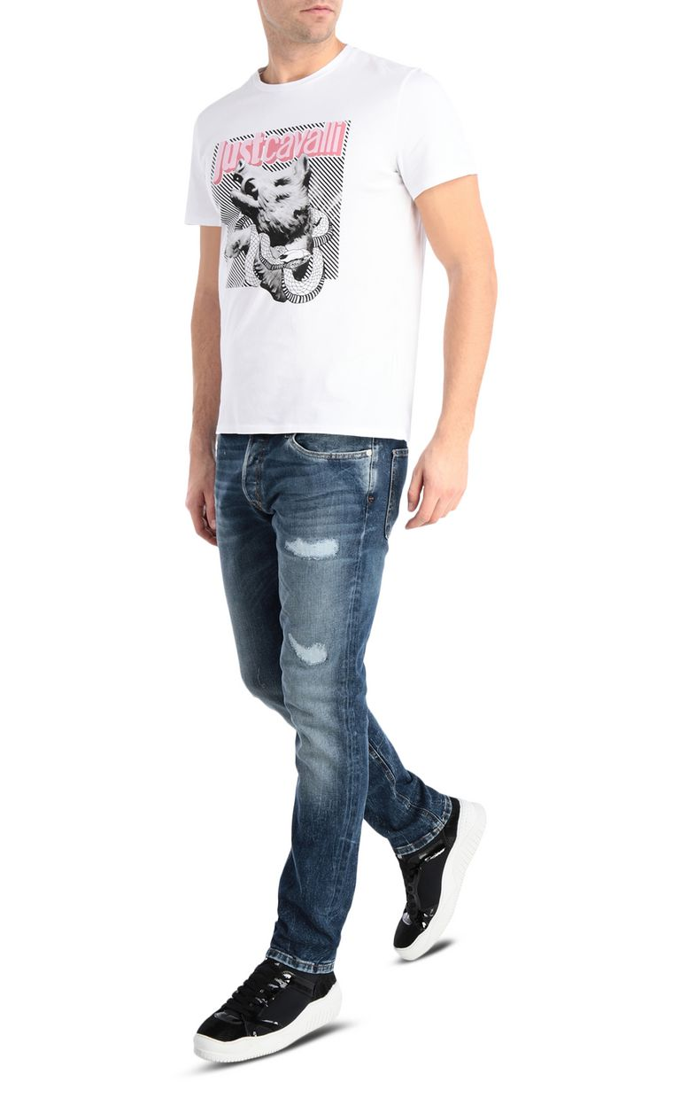 JUST CAVALLI Ripped jeans with a Just Fit Jeans [*** pickupInStoreShippingNotGuaranteed_info ***] d