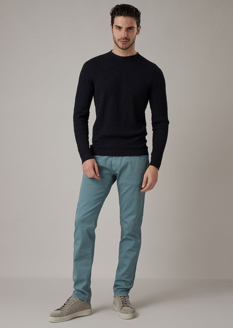 Skinny fit jeans in stretch finish Japanese denim