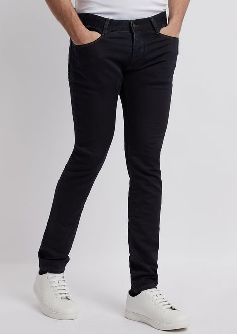 Extra slim-fit J35 jeans in right-hand comfort stretch twill denim