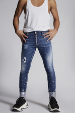 DSQUARED2 Splashed Cuff Cool Guy Cropped Jeans 5 pockets Man