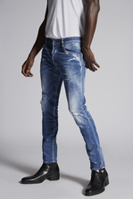 DSQUARED2 Faded Blue Skater Jeans 5 pockets Man