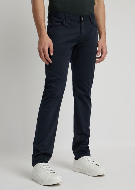 Slim-fit jeans in pigment-dyed stretch cotton satin
