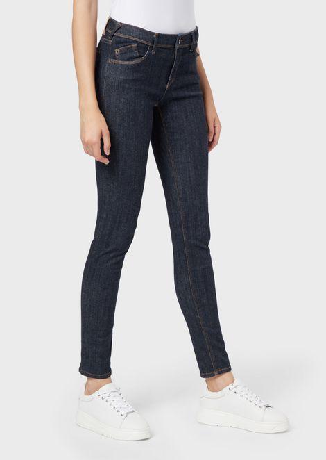 J28 super-skinny jeans in medium stretch denim