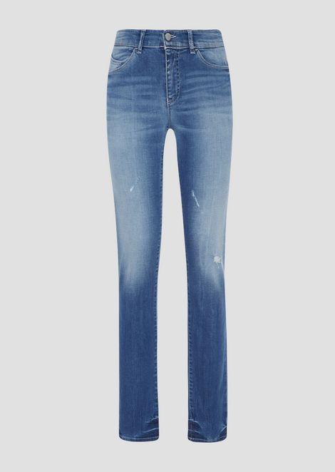 Super skinny J18 jeans in processed, comfort denim