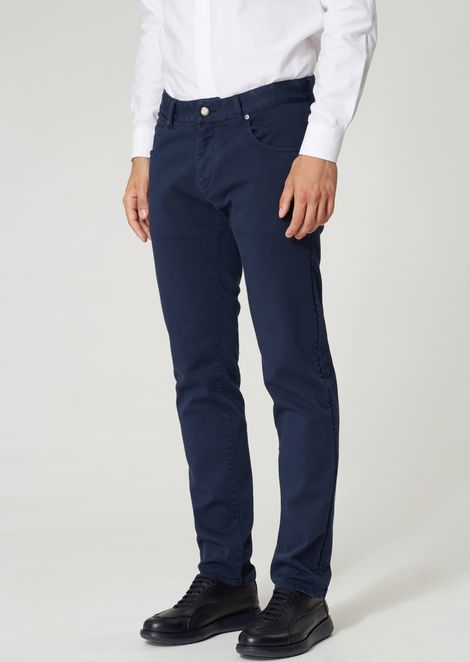 Skinny jeans in stretch-finish Japanese denim