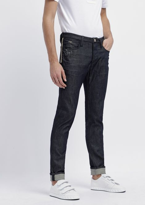 cd0103b6a84fe Slim-fit jeans in special stretch cotton denim with splashes of color