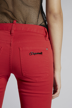 DSQUARED2 Stretch Bull Garment Dyed Medium Waist Cropped Twiggy Jeans 5 pockets Woman