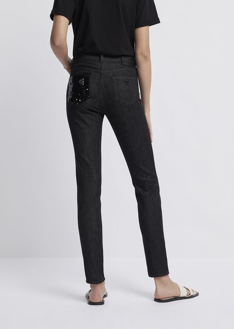 Super skinny fit J20 jeans with sequin pocket