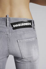 DSQUARED2 Grey Denim Cool Girl Cropped Jeans 5 pockets Woman
