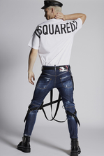 DSQUARED2 Blu Cadet Military Jeans 5 pockets Man
