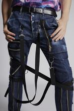 DSQUARED2 Blu Cadet Military Jeans 5 pockets Man
