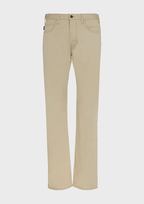 Regular-fit J21 jeans in stretch cotton gabardine