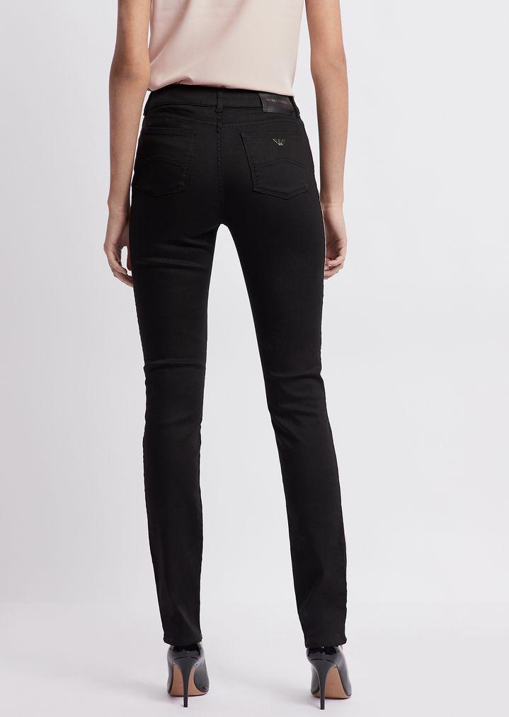 fb2455b6f8 Jean j18 super skinny en denim noir stretch avec passepoil contrasté