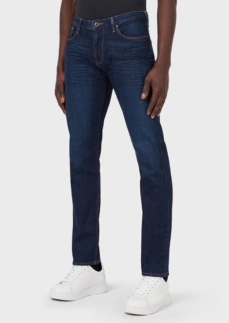 Slim-fit J06 jeans in stretch cotton denim