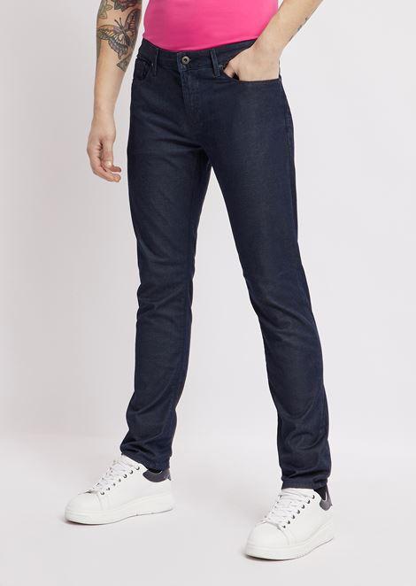 Slim-fit J06 jeans in stretch cotton denim