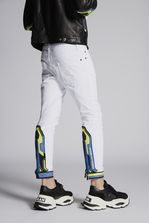 DSQUARED2 White Motocross Biker Jeans 5 pockets Man