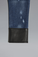 DSQUARED2 Leather Insert Jeans 5 pockets Woman
