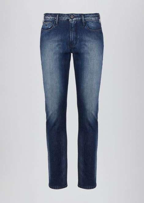 Slim-fit J06 denim jeans in 12 oz cotton twill