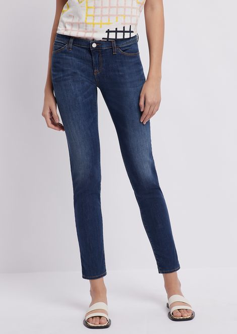 J06 skinny jeans in a blend of stretch denim and lyocell with vintage effect