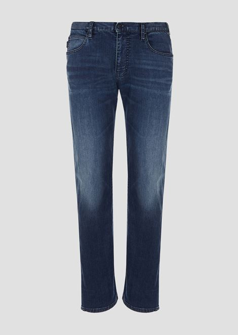 Regular-fit J45 jeans in stretch cotton denim