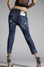 DSQUARED2 Yellow Ripped Spots Cool Girl Cropped Jeans 5 pockets Woman