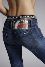 DSQUARED2 Basic Garden Jennifer Cropped Jeans 5 pockets Woman