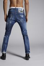 DSQUARED2 Faded Patches Skater Jeans 5 pockets Man