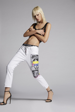 DSQUARED2 Garment Dyed Cool Girl Cropped Jeans 5 pockets Woman