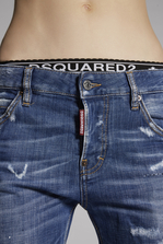 DSQUARED2 Faded Blue Cool Girl Cropped Jeans 5 pockets Woman