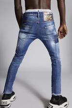 DSQUARED2 Bleached Holes Skinny Dan Jeans 5 pockets Man