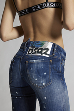 DSQUARED2 Faded Patches Jennifer Jeans 5 pockets Woman