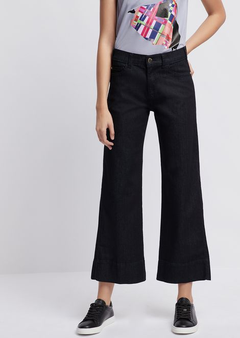 Wide-fit J33 jeans in a blend of stretch denim and lyocell