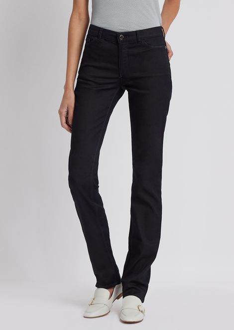 Straight-slim-fit J85 jeans in stretch denim