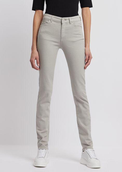 Super skinny J18 jeans in bull-stretch, garment-dyed denim