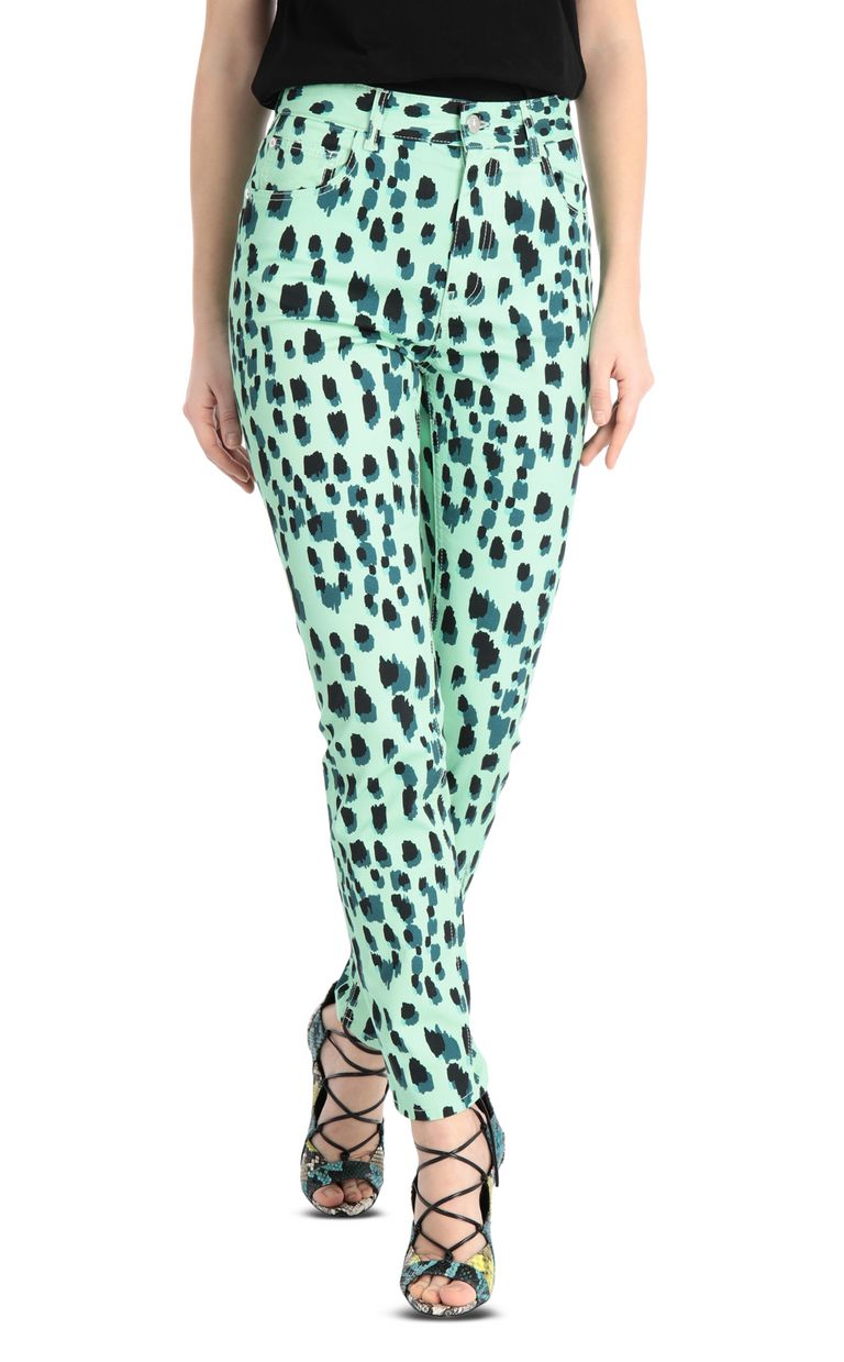JUST CAVALLI Slim-fit leopard-print jeans Jeans Woman f