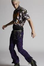 DSQUARED2 Tie And Dye Ski Biker Jeans 5 pockets Man