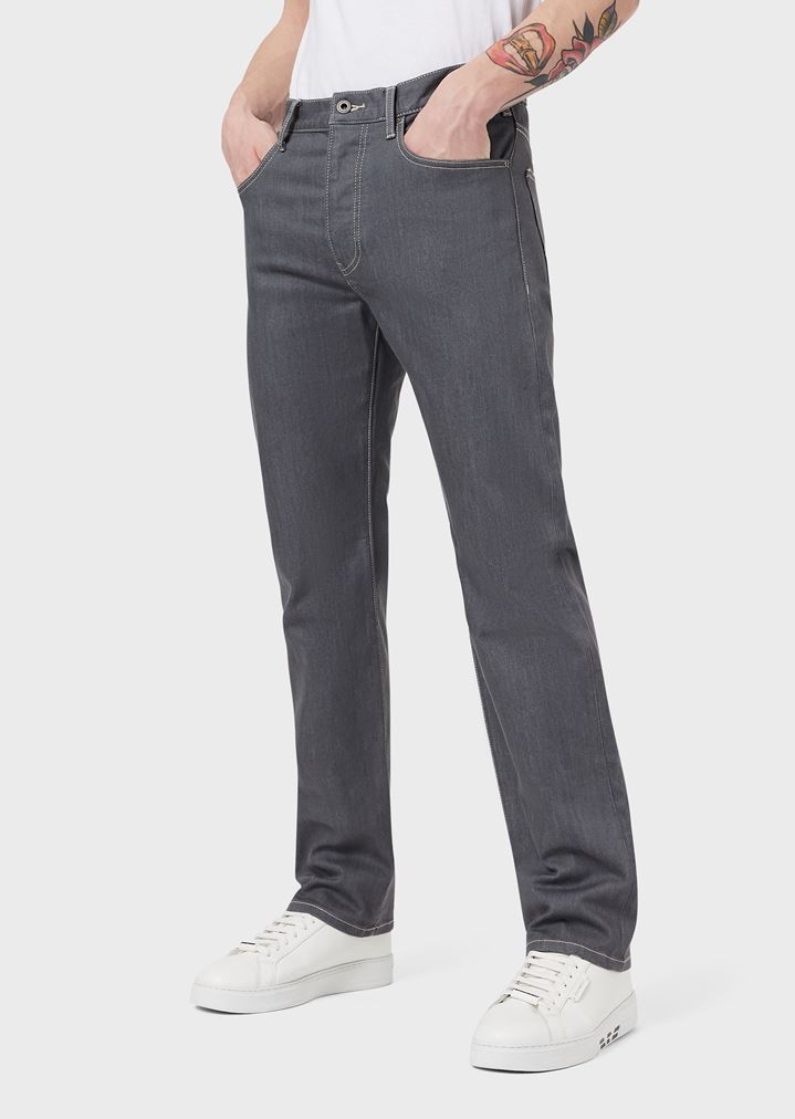 2d1a7845ccf3 Regular-fit J21 jeans in stretch cotton denim