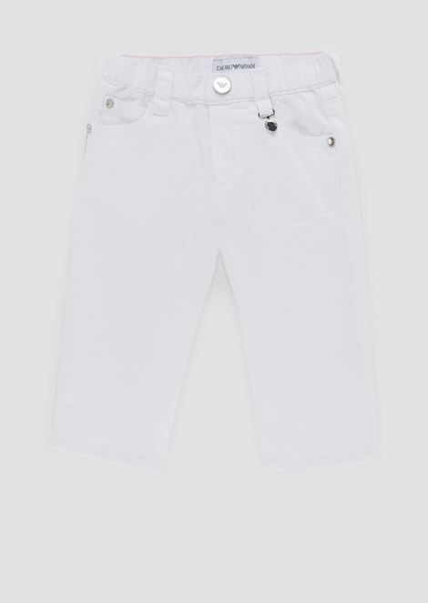 Pants in cotton gabardine