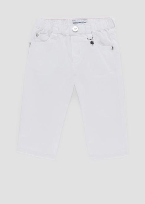Trousers in cotton gabardine