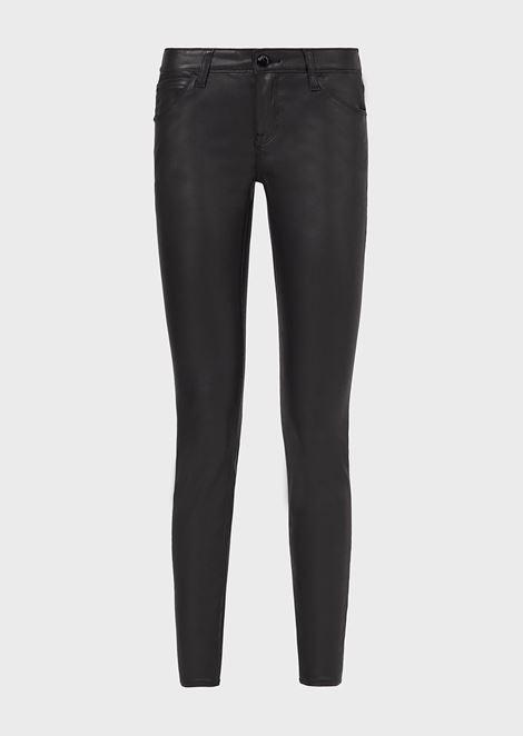 Skinny J06 jeans in coated gabardine