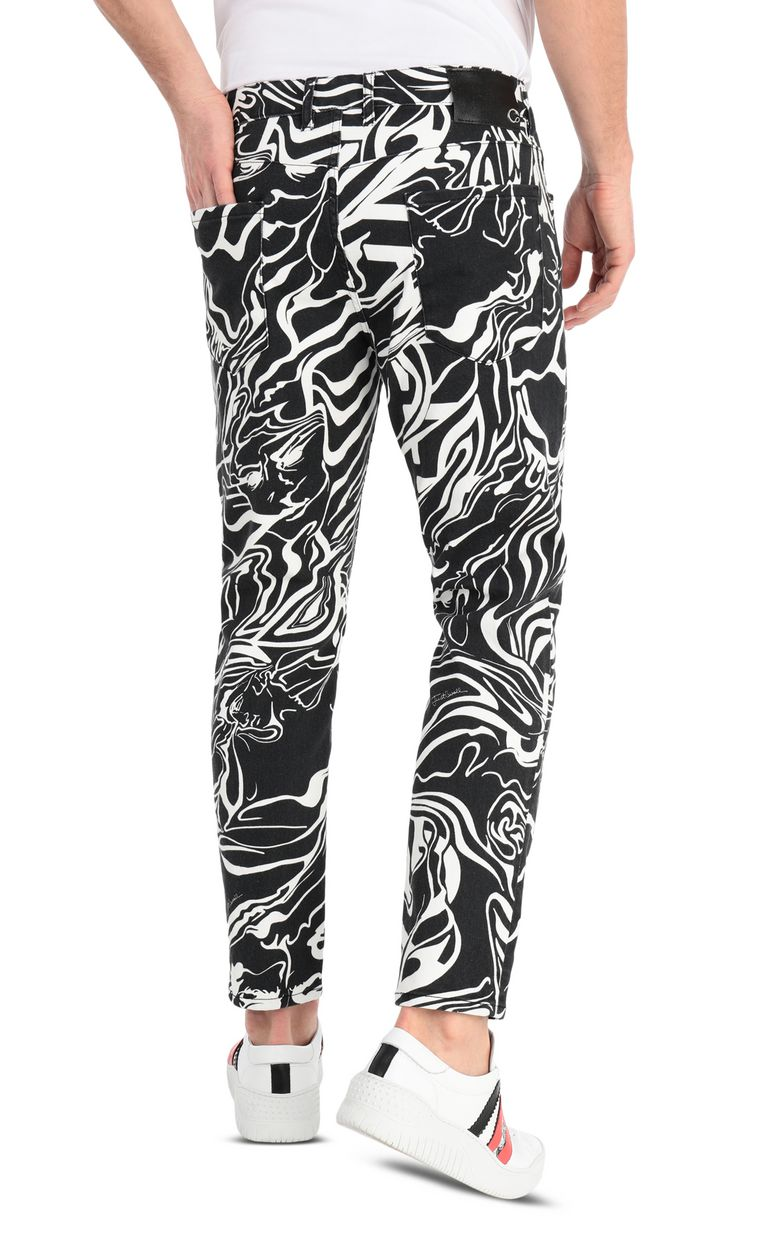 JUST CAVALLI Michelangelo-print boy-fit jeans Jeans Man r