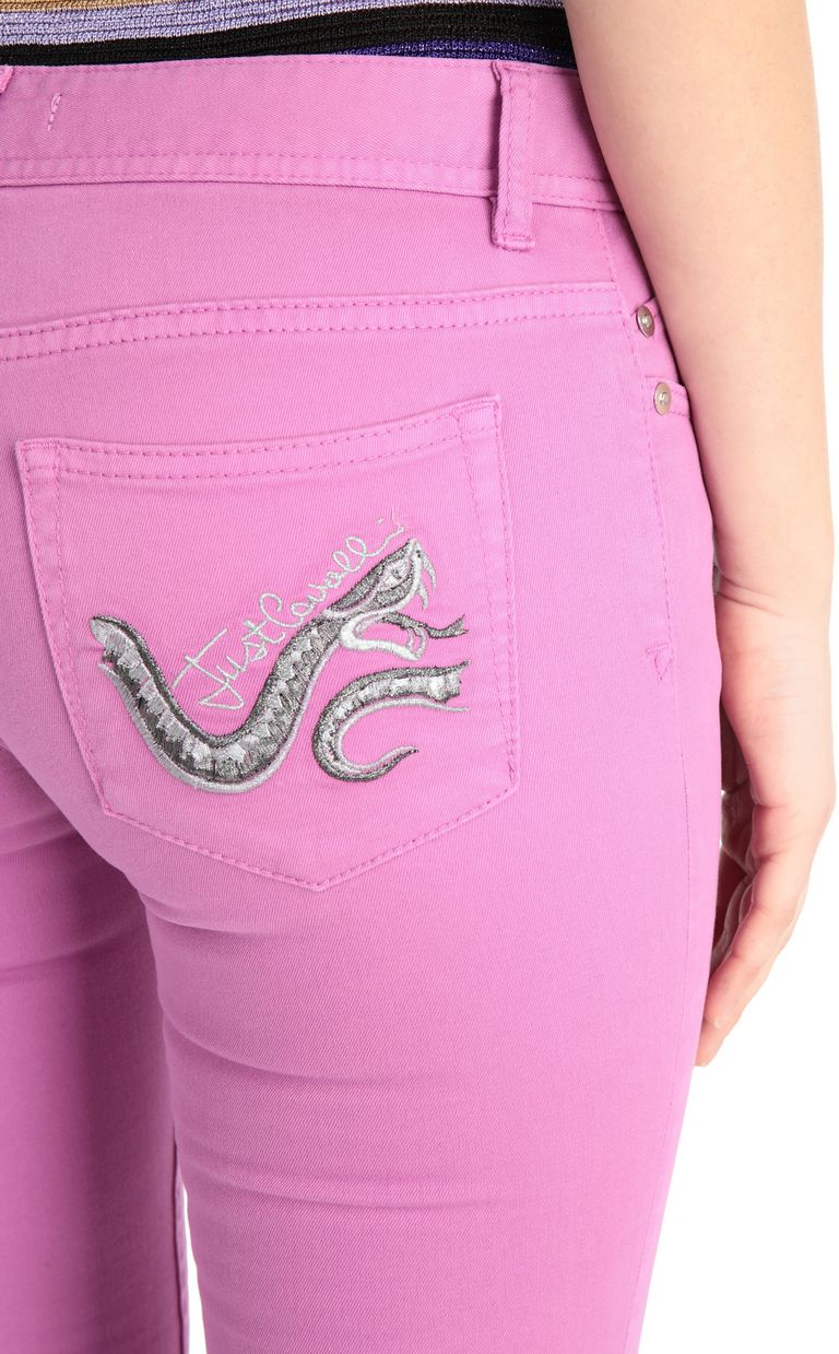 JUST CAVALLI Slim-fit snake-detail jeans Jeans Woman e