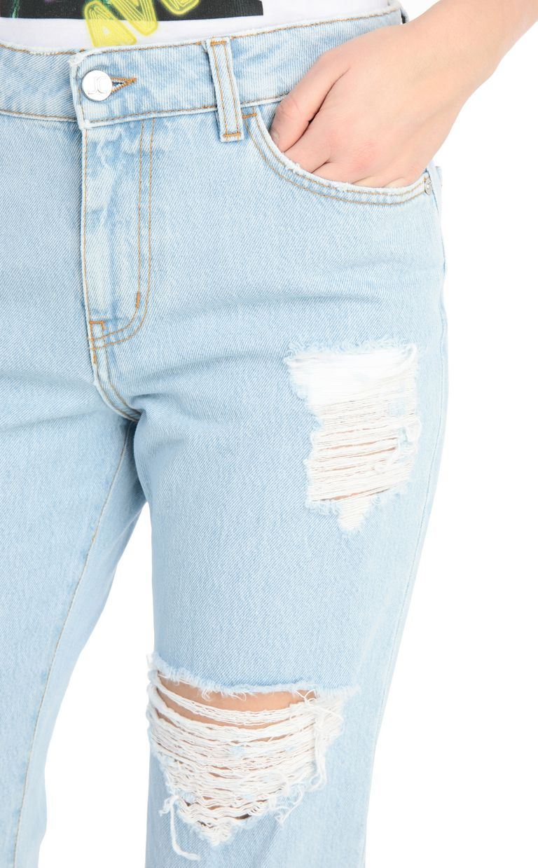 JUST CAVALLI Ripped jeans with a boy fit Jeans Woman e