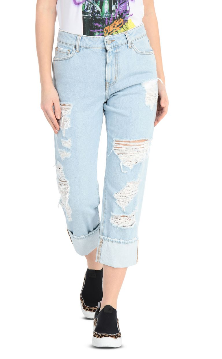 JUST CAVALLI Ripped jeans with a boy fit Jeans Woman f