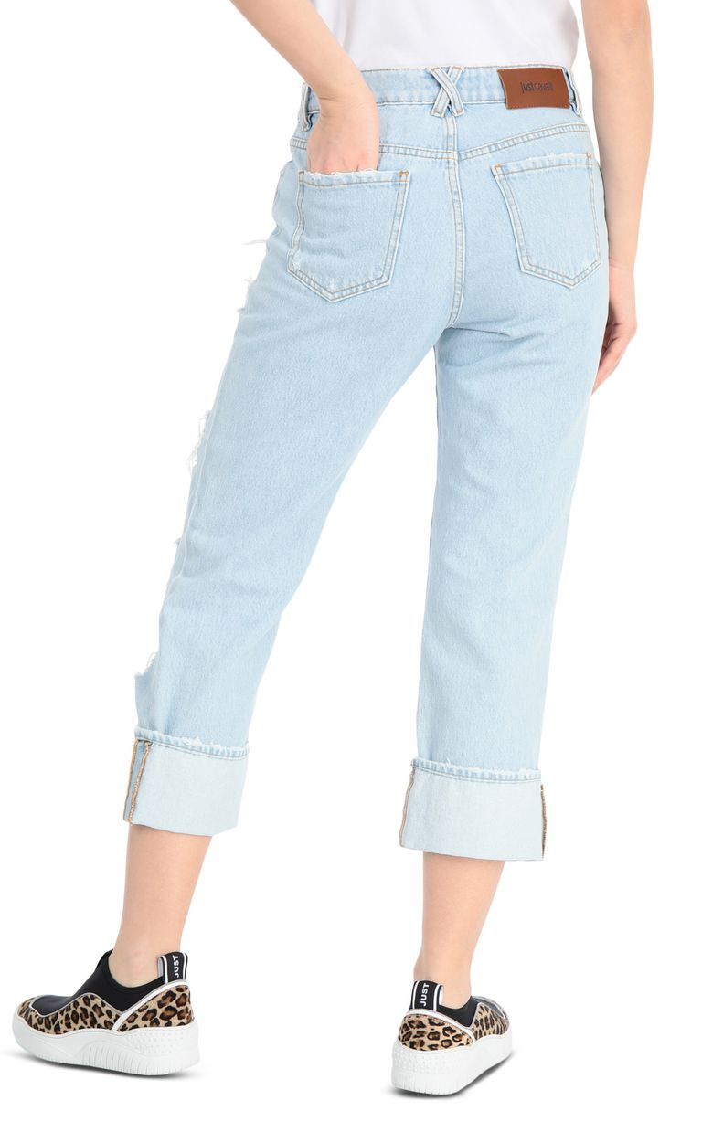 JUST CAVALLI Ripped jeans with a boy fit Jeans Woman r