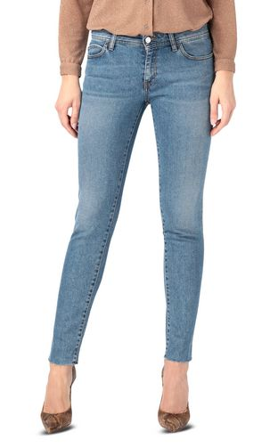 Embroidered slim-fit jeans