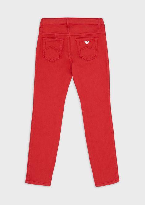 Denim shorts with turned-up hem